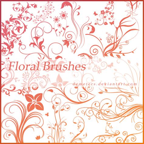 floral pattern brush photoshop 30 beautiful sets of photoshop floral brushes