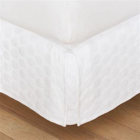 big dot matelasse bed skirt pbteen