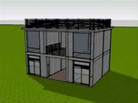 One Story House Plan by 3d Animated Construction Of 2 Storey Commercial Building