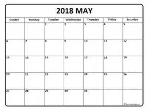 Calendar 2018 May May 2018 Calendar May 2018 Calendar Printable