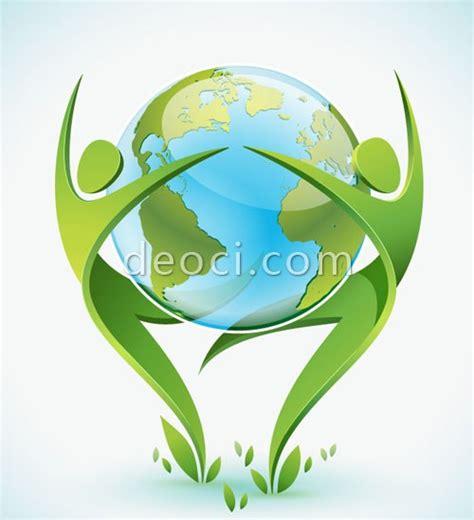 design logo gratis download free download vector green people and earth dance design