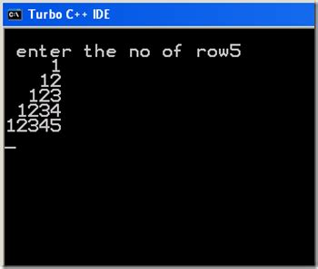 number pattern in c language write a program to print following number pattern c