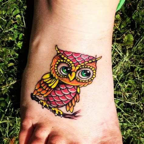 owl tattoo in color baby owls tattoos baby owls tattoo colors stuff to buy