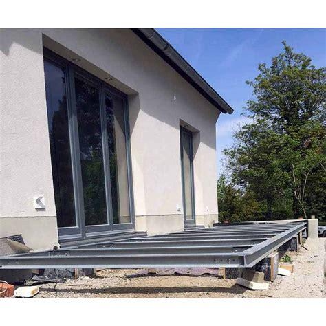 terrasse stahl terrasse 4m 5m unterkonstruktion stahl verzinkt