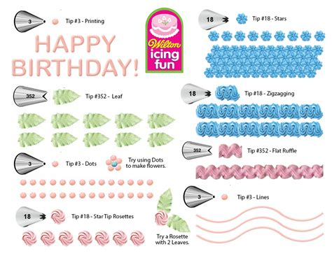 printable practice sheets for cake decorating wilton icing fun decorating practice page for girl scout