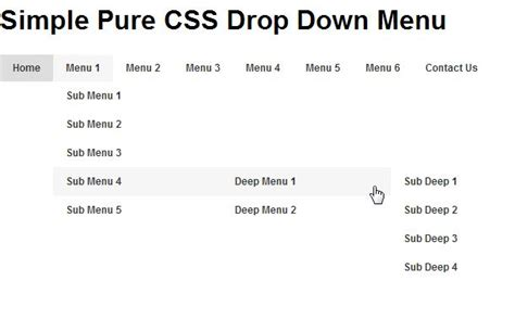 tutorial css menu drop down css drop down menu code free download