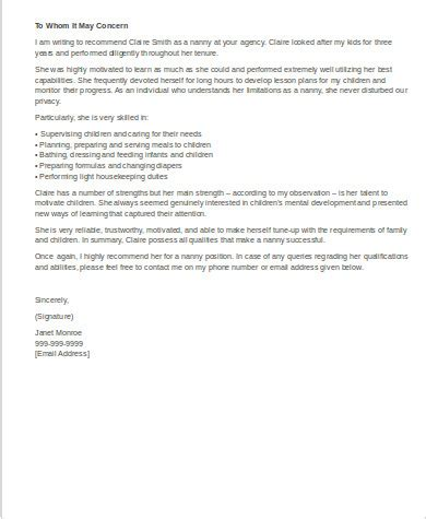 sles of recommendation letter 8 exles in word pdf