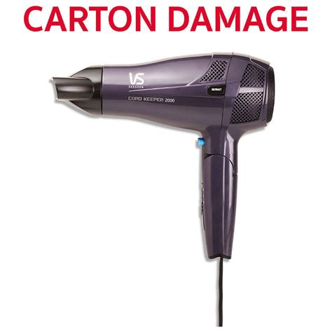Hair Dryer Vs vs sassoon cord keeper 2000w hair dryer travel portable