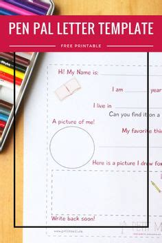 pen pal letter template free pen pal printables for pen pals prompts and