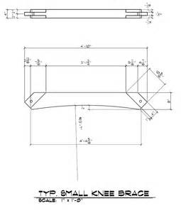 One Story Home Floor Plans 36 quot knee brace piece drawings