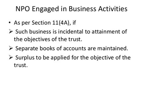section 115 trust ppt for taxation non profit organisation