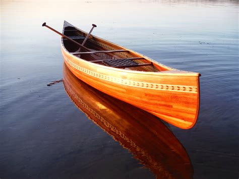 Handcrafted Canoes - 16 prospector crafted cedar canoe package