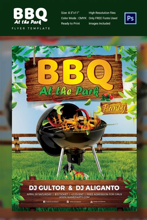 Backyard Bbq Flyer Template 28 Bbq Flyer Templates Free Word Pdf Psd Eps