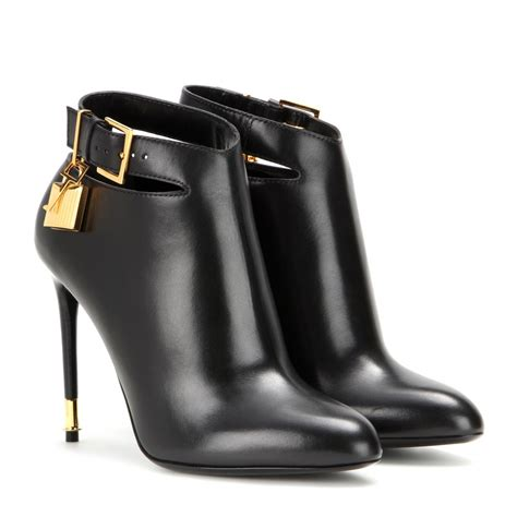 tom ford boots tom ford leather ankle boots in black lyst