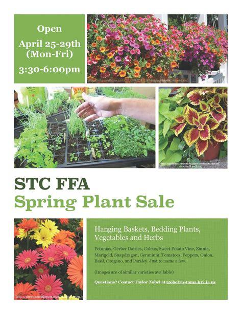 Garden Sale Ffa Plant Sale Open April 25 29 South Tama County