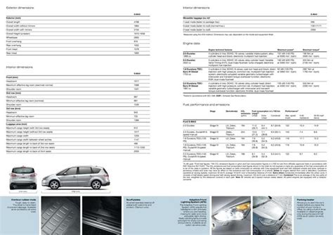 Ford C Max Interior Dimensions by Free Software Ford S Max 2006 Brochure Pdf