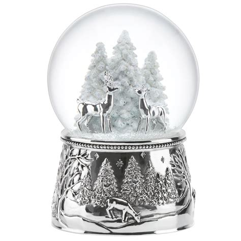 north pole bound snow globe reed and barton silver snowglobe