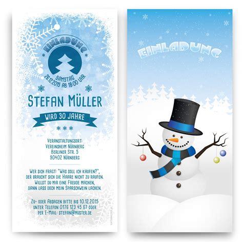 Winter Hochzeit Einladungen by Schneemann Einladungskarten Mit Eigenem Text