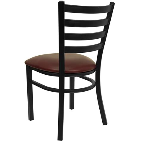 Black Ladder Back Chairs by Hercules Black Ladder Back Metal Restaurant Chair With