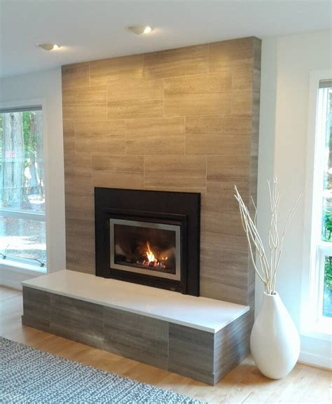 marble subway tile fireplace surround 19 stylish fireplace tile ideas for your fireplace surround