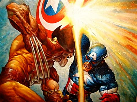 captain america vs wallpaper quot hero envy quot the blog adventures captain america vs wolverine