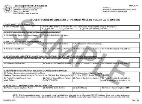 Does State Employees Get Reimbursed For Mba Classes by Health Care Insurance Carrier Reimbursement Dwc26 409
