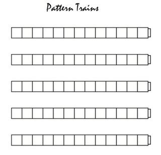 pattern activities with unifix cubes pattern trains patterns pinterest patterns and trains