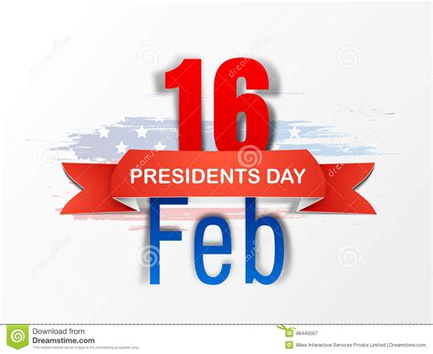 day design poster or banner design for american presidents day