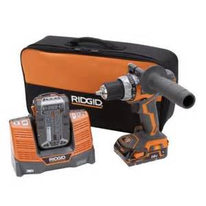 home depot cordless drills ridgid fuego 18 volt hyper lithium ion 1 2 in compact