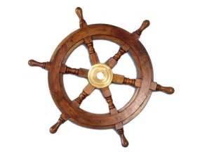 Wooden Boat Steering Wheels Australia Buy Deluxe Class Wood And Brass Decorative Ship Wheel 15