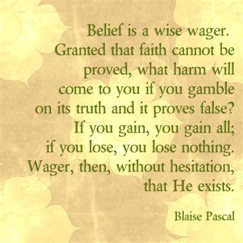 pascals wager blaise pascal religion quotes quotesgram