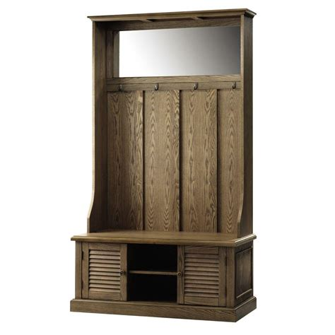 Home Depot Kitchen Furniture home decorators collection weathered oak hall tree