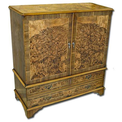 enclosed tv wall cabinet burr walnut enclosed tv cabinet