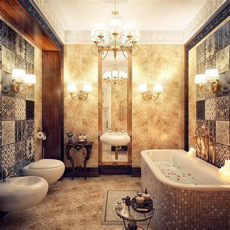 gorgeous bathroom chandeliers in a luxurious bathroom design olpos design