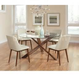 barett mid century modern 5 pc dining set dining room