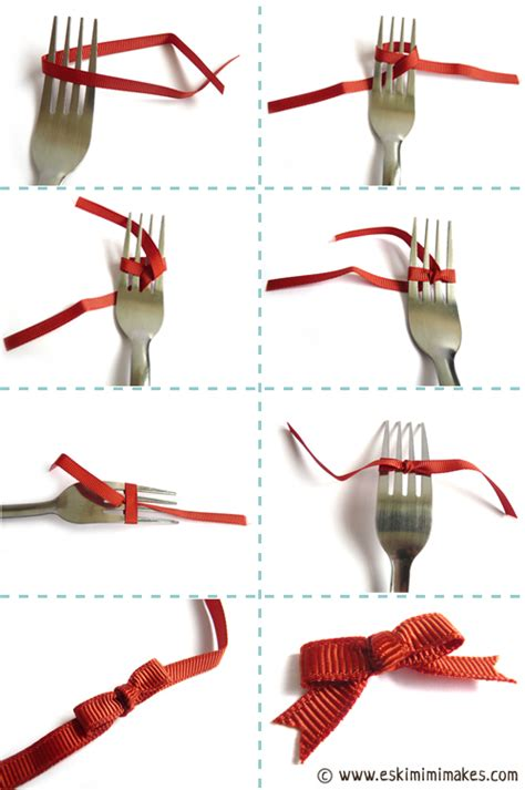 fork bows how to tie a bow using a fork mimi codd