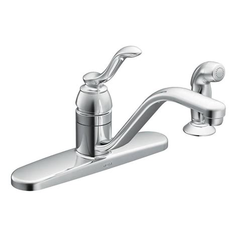 moen kitchen faucet moen banbury single handle standard kitchen faucet with side sprayer in chrome ca87528 the