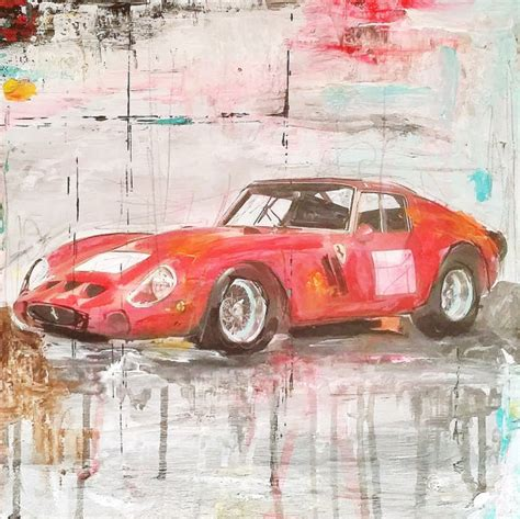 painting for cars painting mixed media car legends gto 250 drawing