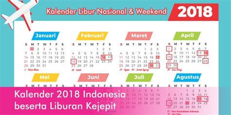 Kalender 2018 Indonesia Beserta Liburan Kejepit   a