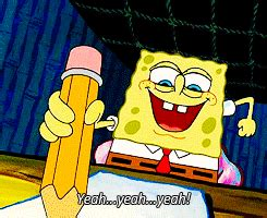spongebob writing paper why it s time to put your phone and up a pen