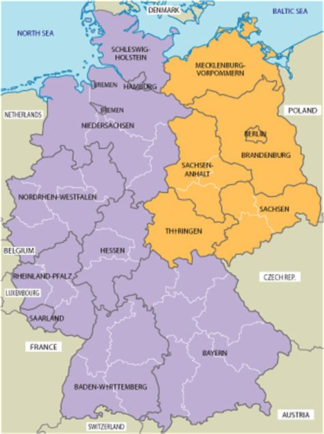 germany map 1980 map of east and west germany