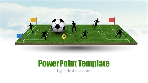 free soccer powerpoint templates 3d soccer pitch powerpoint template slidesbase