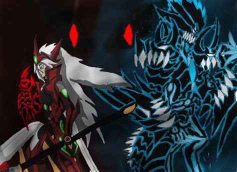 Beast 511 Digital Black Blue blazblue oc ragna and bruno god mode by brunozillinhero on