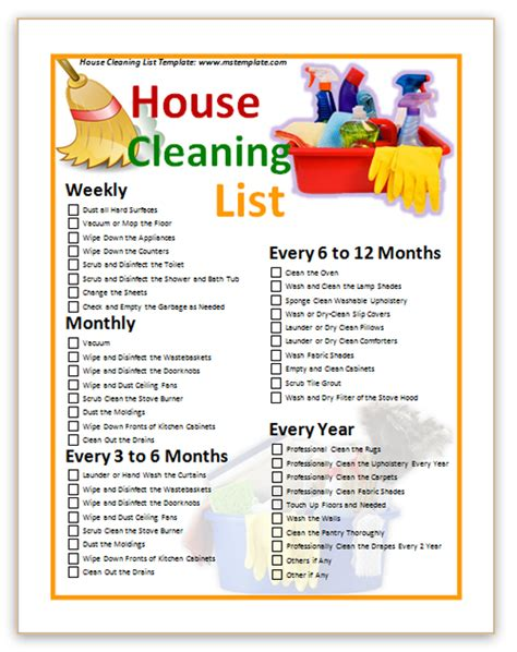 home cleaning checklist template house cleaning free house cleaning images free
