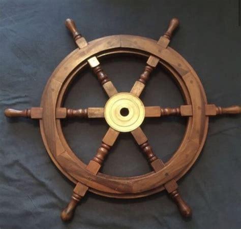 boat steering wheel helm large wooden boat steering wheel helm catawiki