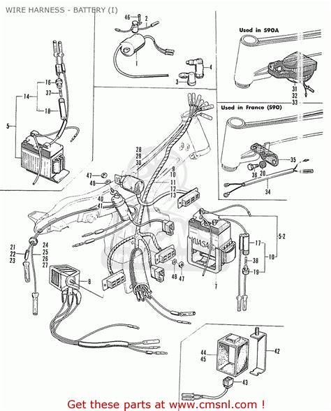 honda s90 sport general export wire harness