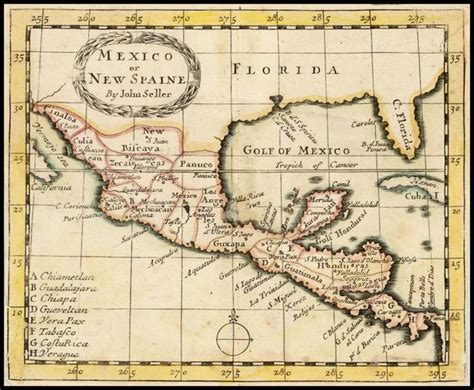 mexico geography gallery mexico or new spaine by john seller 1685 geography