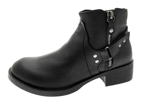 buckle biker boots womens biker boots mid calf ankle buckle warm winter
