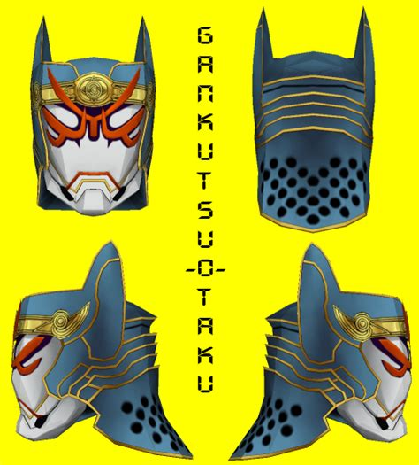 tiger and bunny origami cyclone mask pepakura by