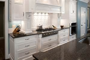 Kitchen Countertop Cabinets Brown Ceramic Floor Grey Countertops In White